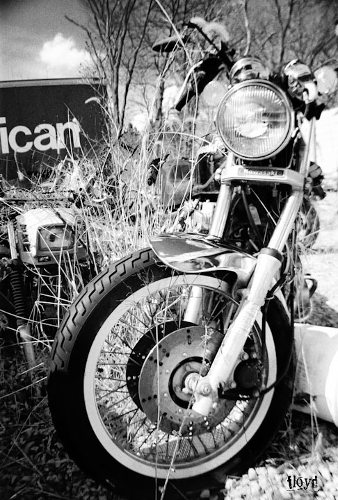 Motorcycle found at junkyard