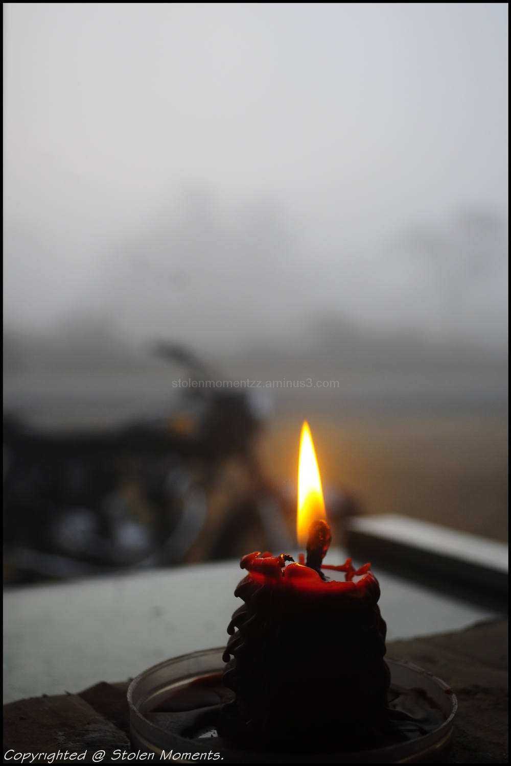 Candle in the mist