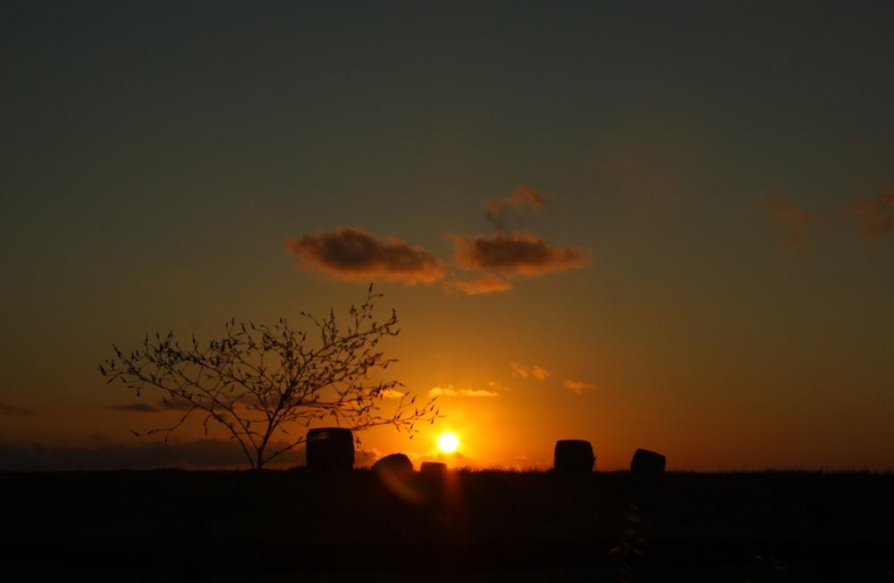 sunset...at 8pm