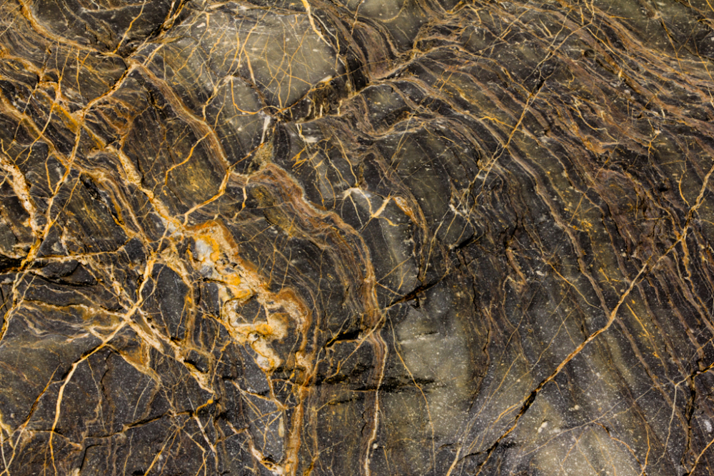 Close up of black marble