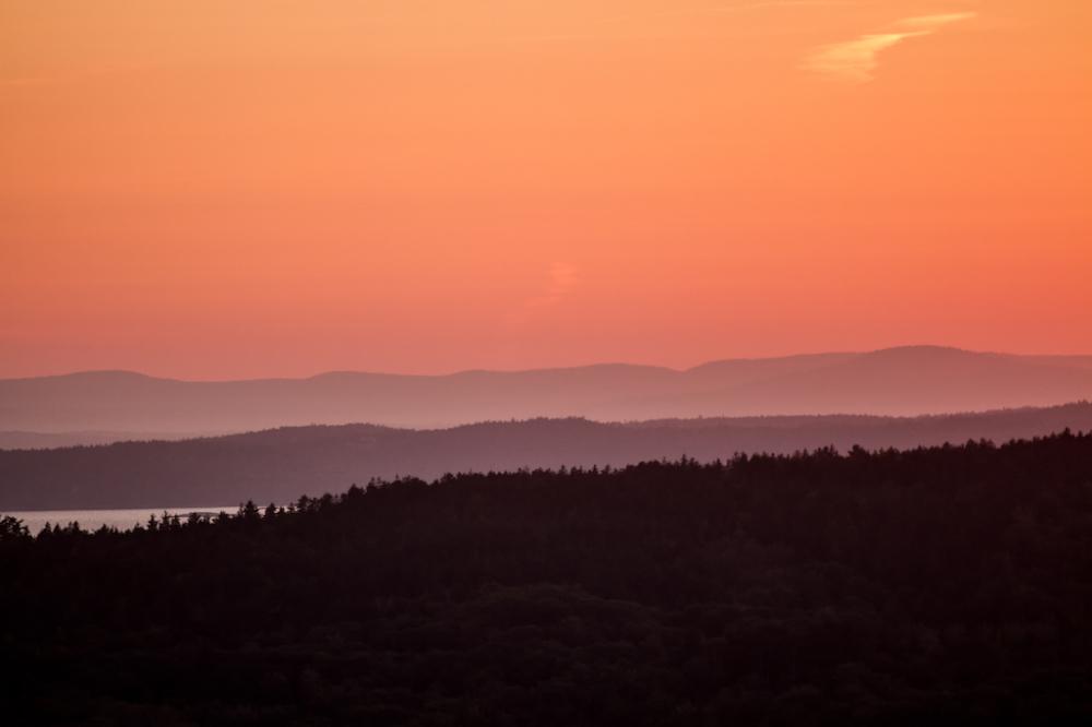 Sunset on Mt. Desert Island