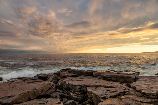 Awesome sunset at Schoodic Point Maine