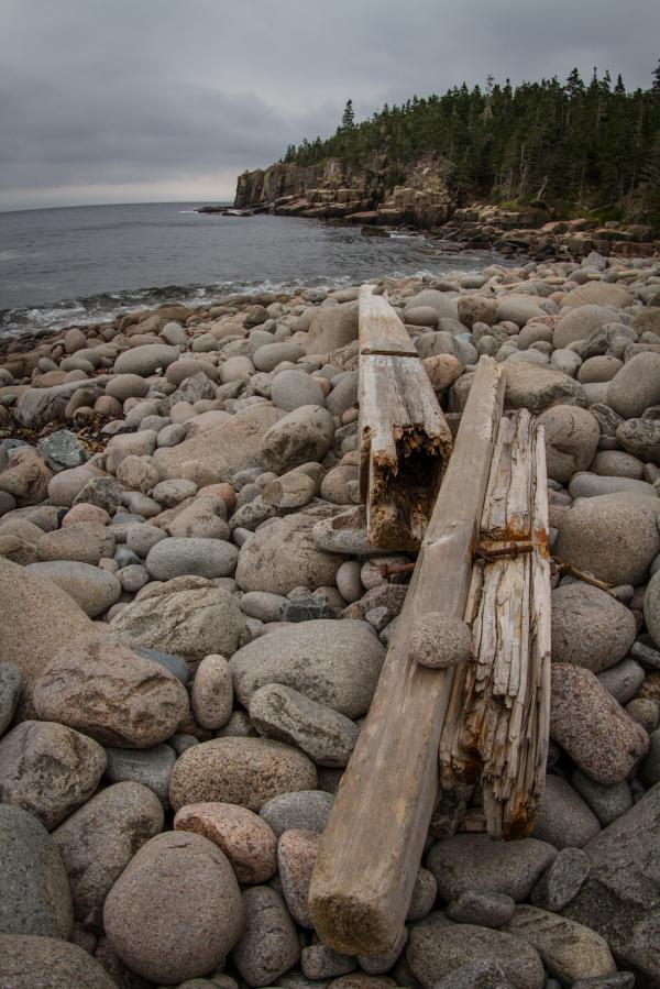 boulder beach on the Schoodic Peninsula, Maine