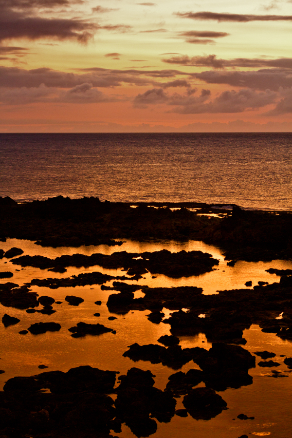 Sunset on Shark Beach Oahu