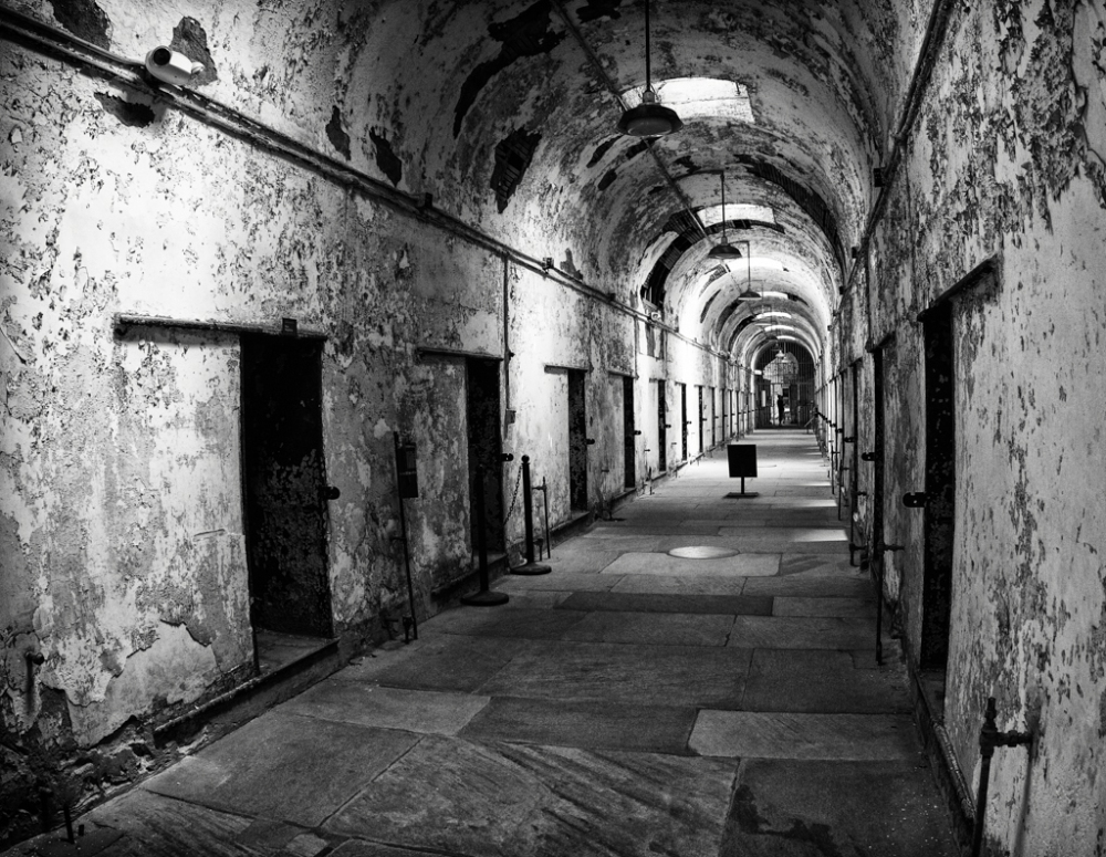A cell block in Eastern State Penn, Philadelphia
