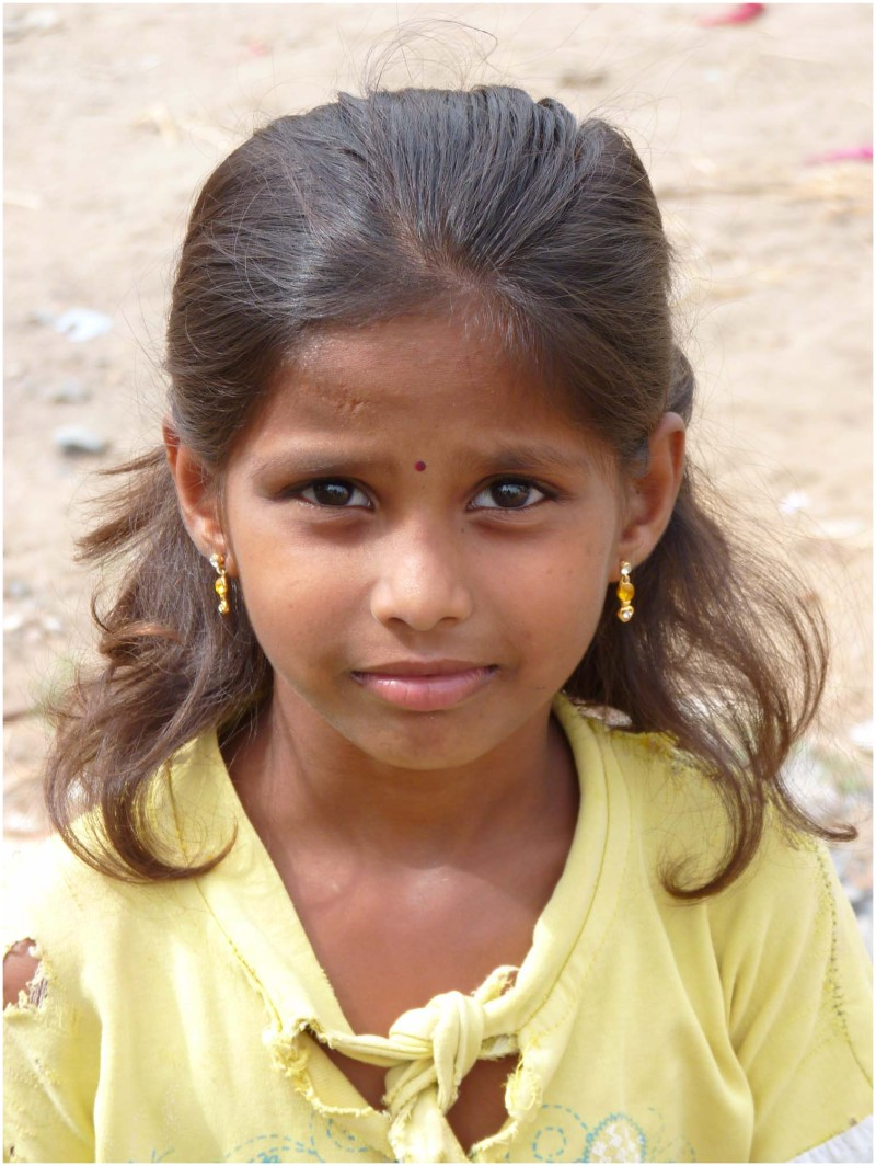 Indian Village Girl - People  Portrait Photos - Km -4914