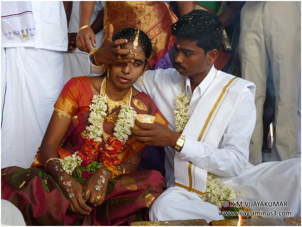 The newly married couple in traditional wedding