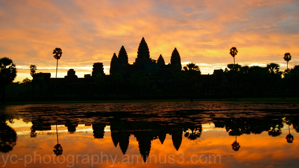 Angkor wat in dawn
