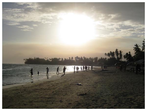 sundown swim - before