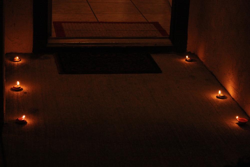 Illuminated path to my home