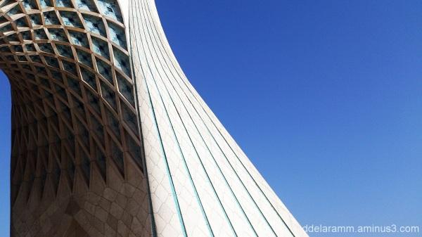 azadi tower,blue,sky