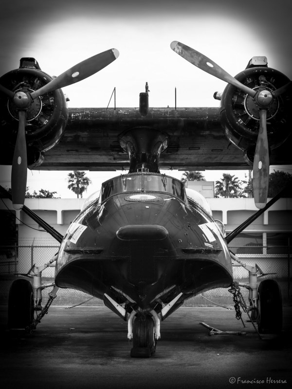 Consolidated PBY5-A Catalina Flying Boat. WWII Bla