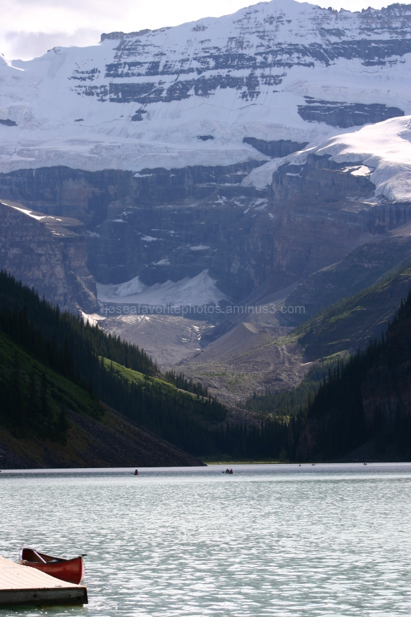Lake Louise canoe