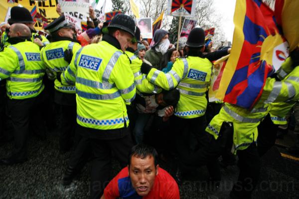 Tibetan demonstration in London