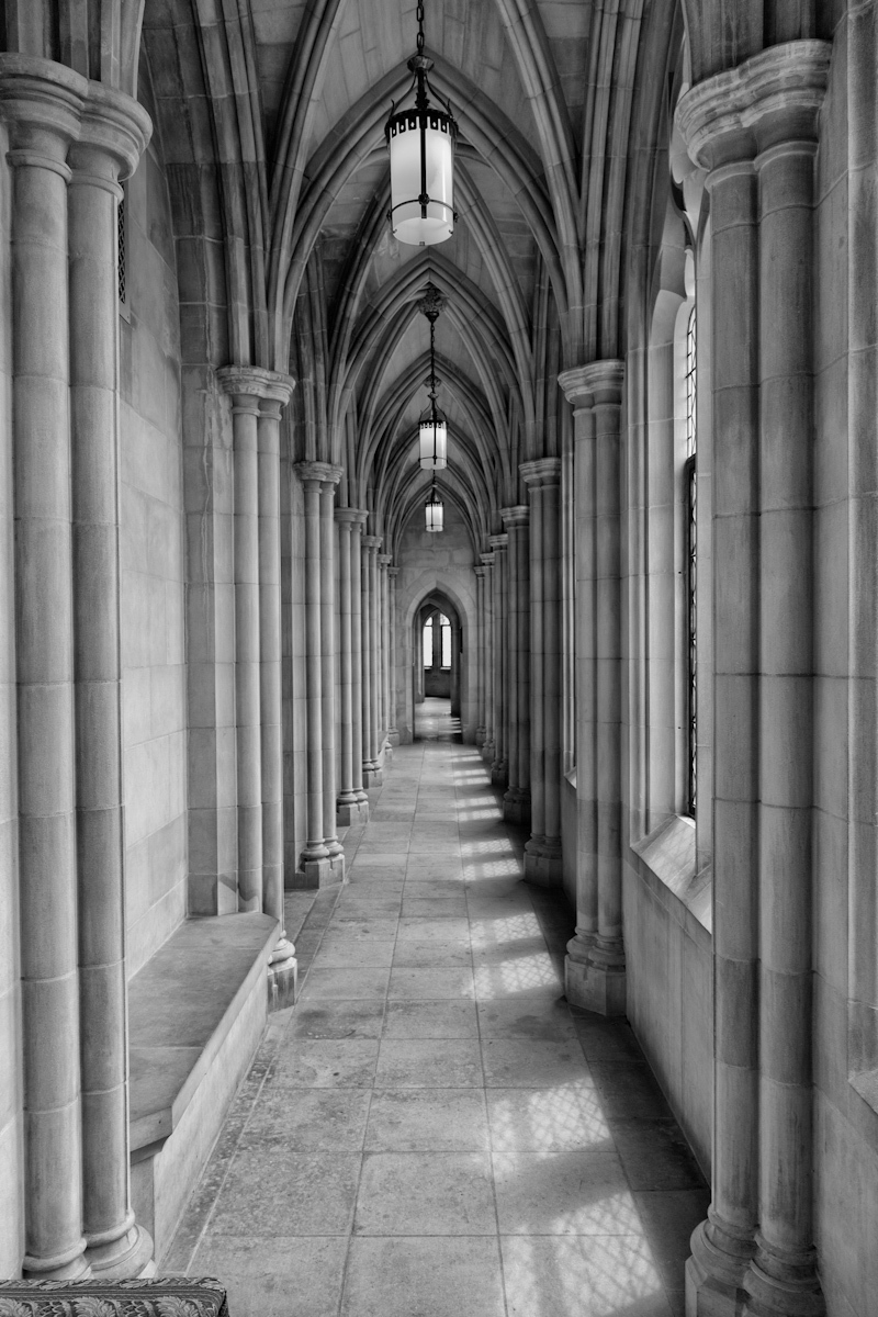 Gothic Hallway - Architecture Photos - Bill Sullivan