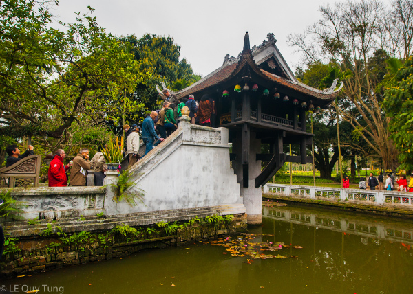 Little temple in Hanoi- VIet Nam