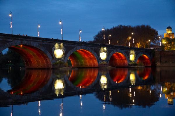 Pont sobre la Garona a Toulouse