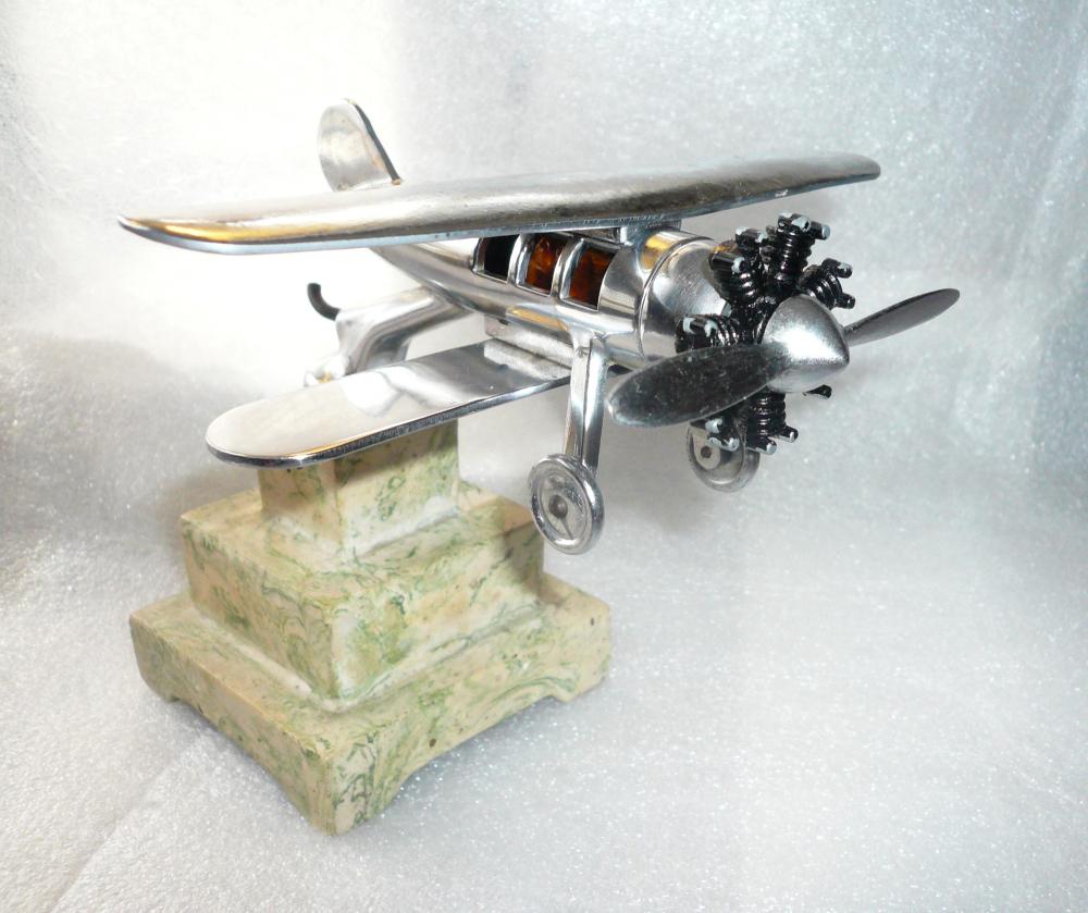 1930 Bi-Plane Car Mascot