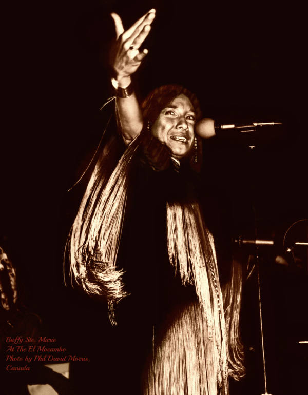 Buffy St. Marie in concert at the El Mocambo