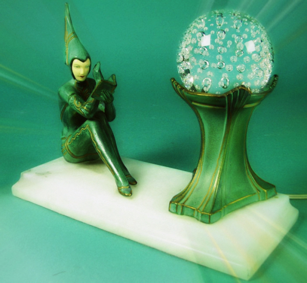 Pixie Reader Lamp Circa 1925 by H. Fugere, C1925#3