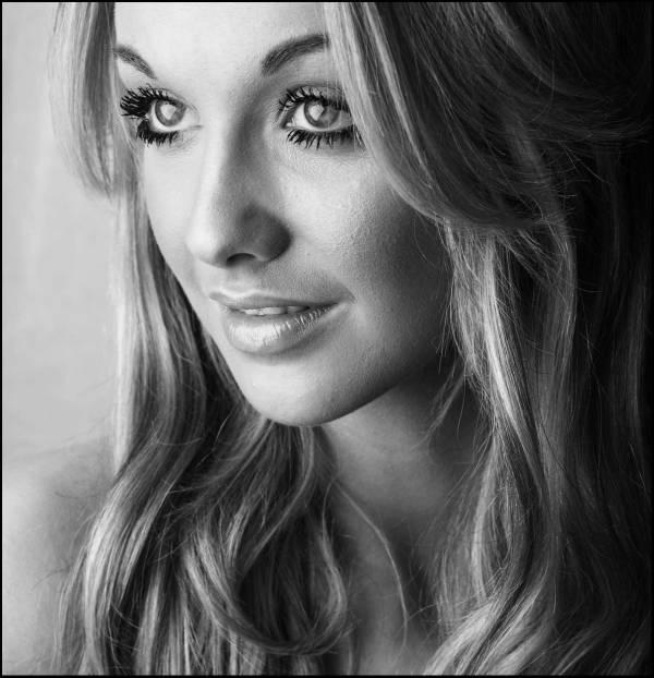 Woman monochrome portrait