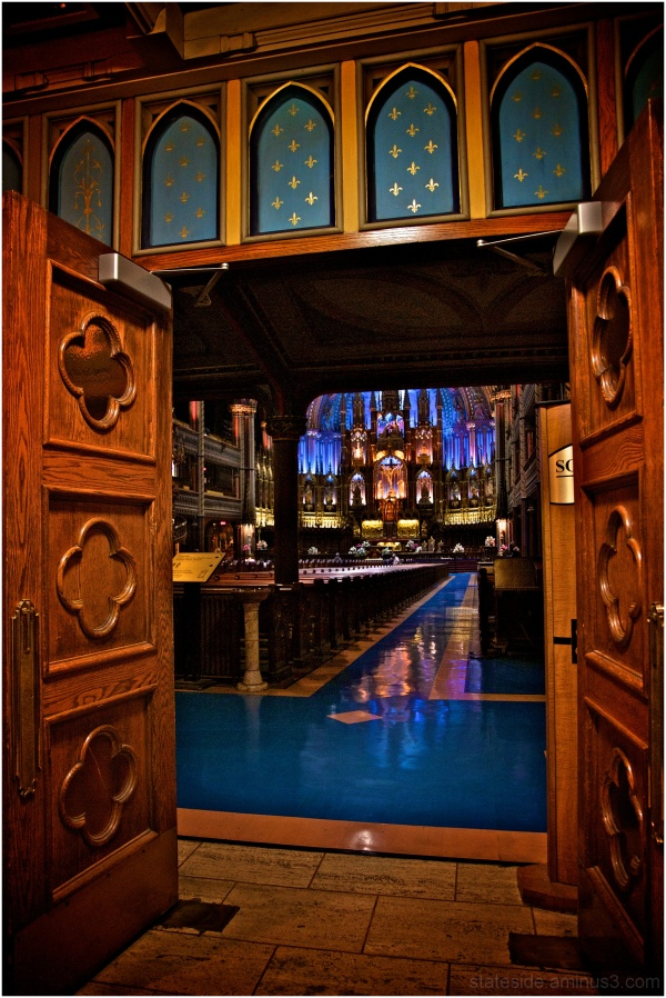 Door Entry Into Notre-Dame de Montreal