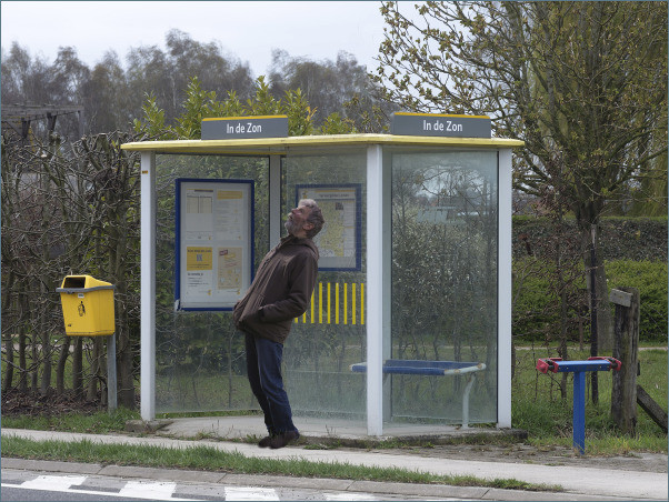 S/T   This bus stop is called 'In the Sun'