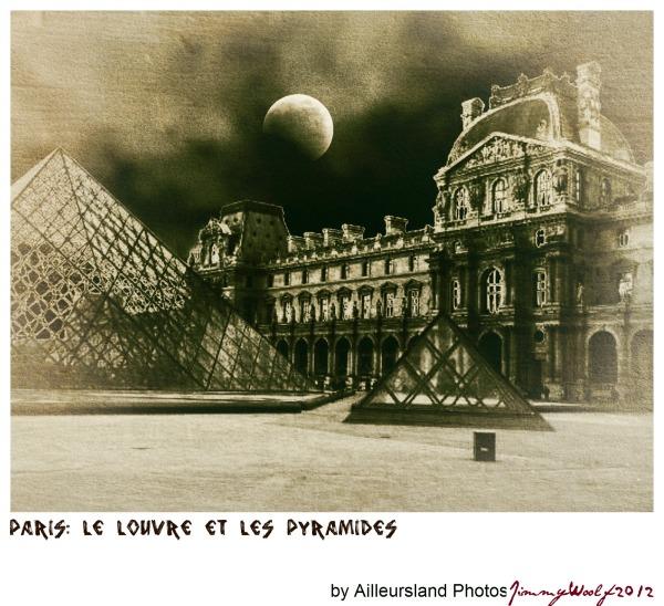 Le Louvre et les pyramides