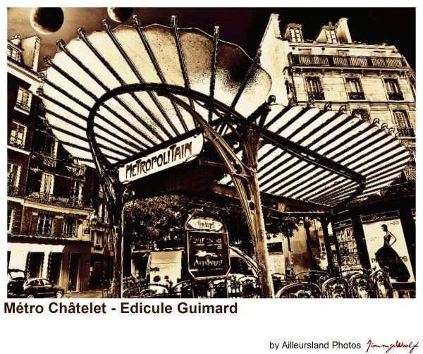 Paris Métro Chatelet - Edicule Guymard