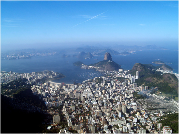 Brésil, Rio, pain de sucre, baie