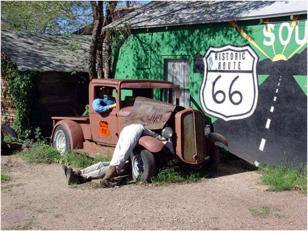 Mise en scène des années 20 sur la route 66