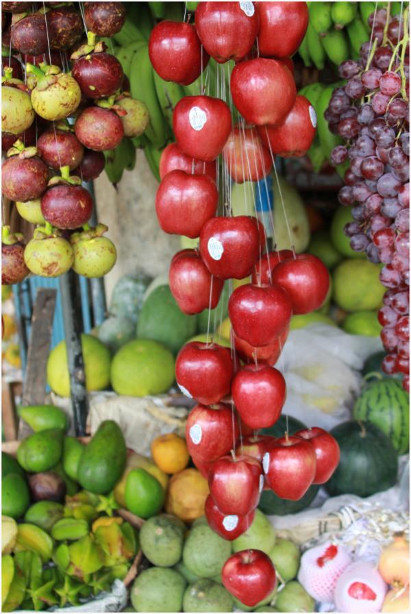 Présentation de fruits originale