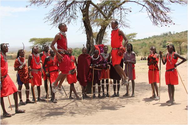 Cérémonie traditionnelle Masaï