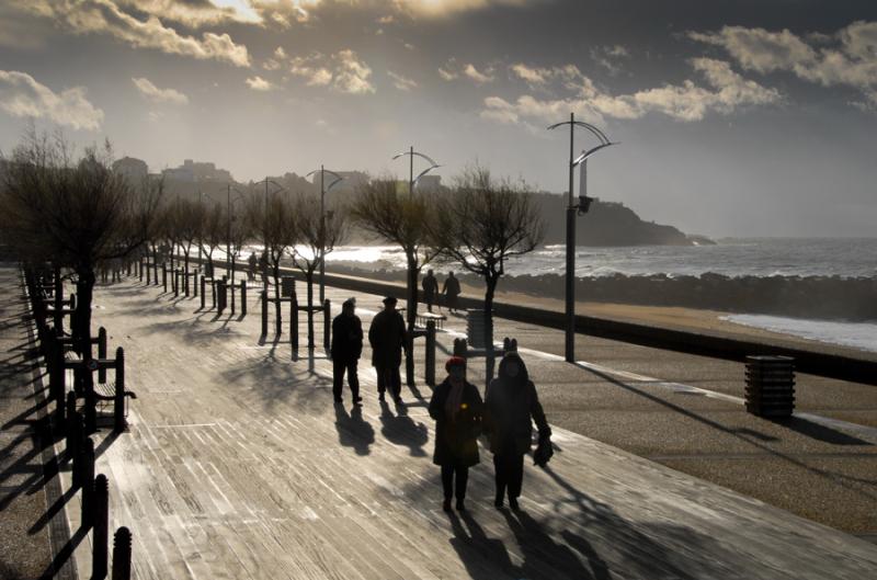 Anglet plage en hiver