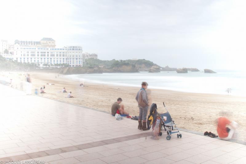 Matinée brumeuse à Biarritz