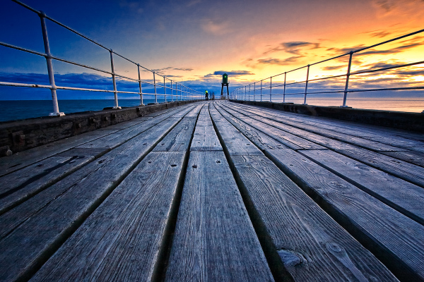 Dawn on Whitby Pier