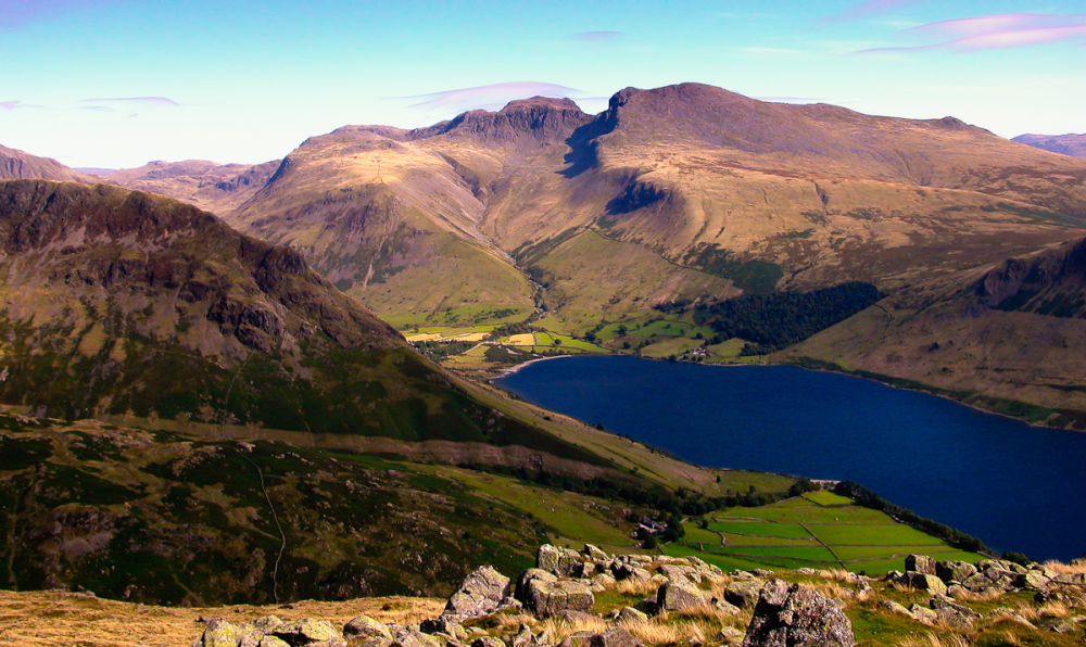 The Scafells from Middle Fell