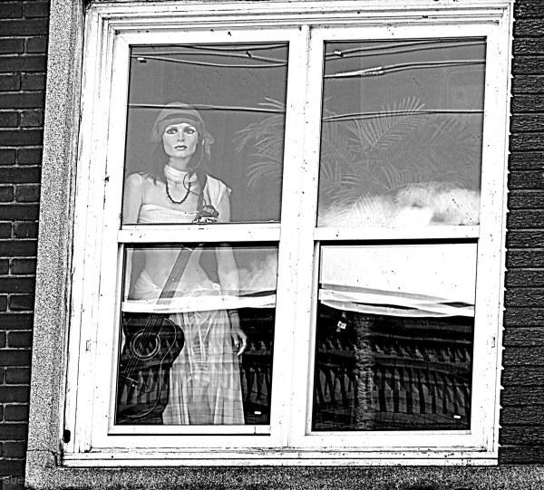 window reflection mannequin