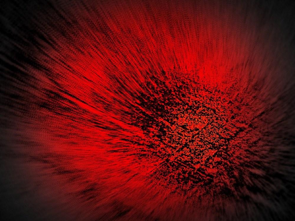 abstrait red flower