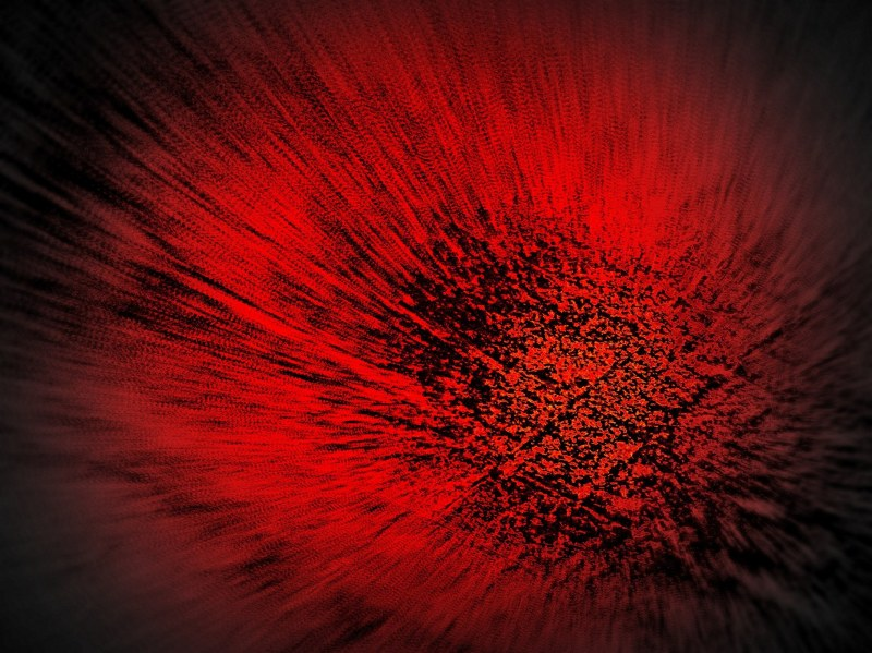 abstrait red flower