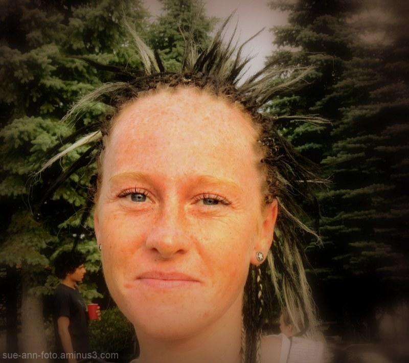 hérisson dans l'arbre  -  porcupine in the tree