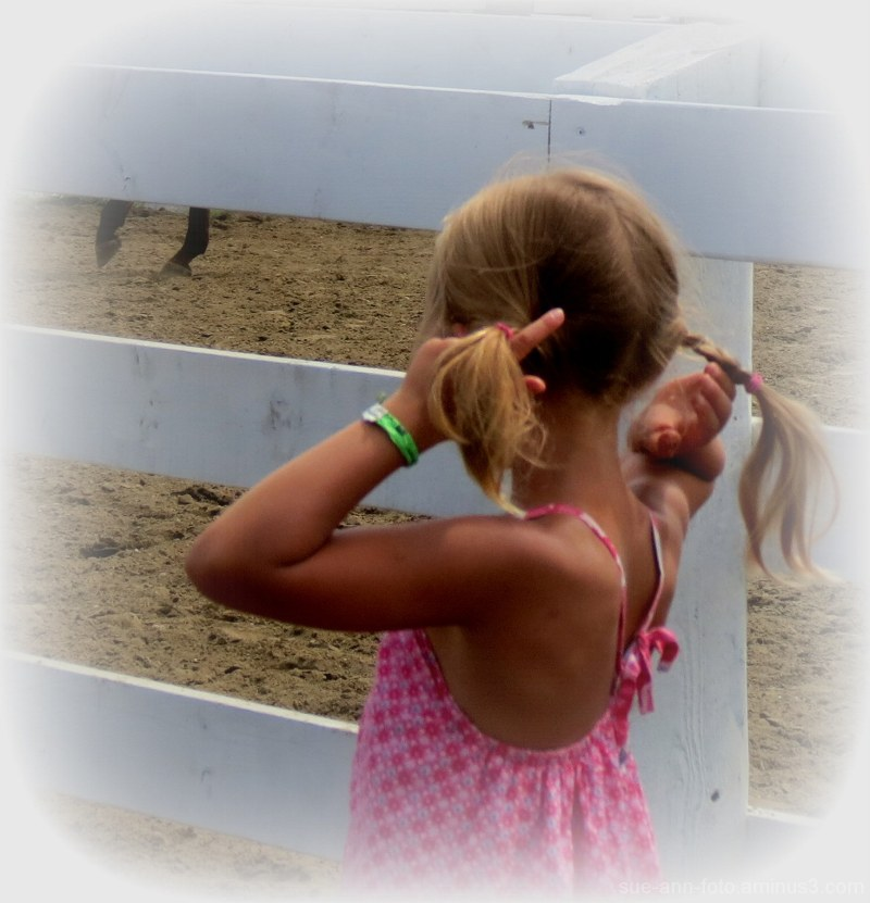 mes queues de cheval - my pony tails...