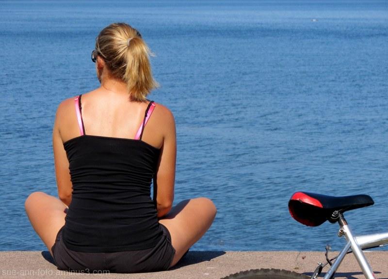 vélo et plage-  biking and beach