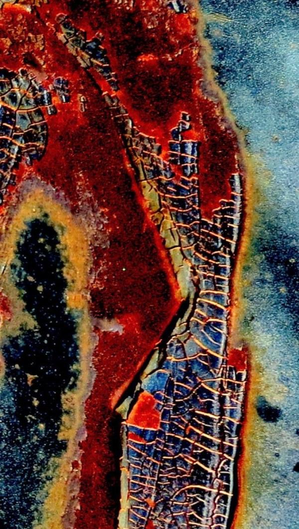 carcasse rouillée- VUE AERIENNE - AERIAL VIEW