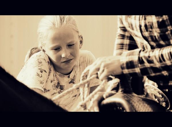 la fillette blonde et son papa