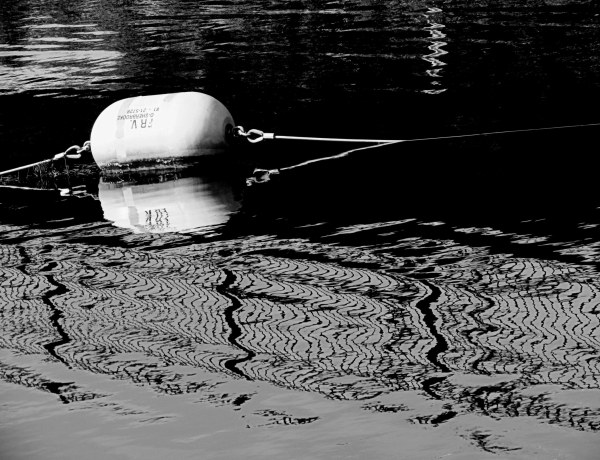 a buoy on the water