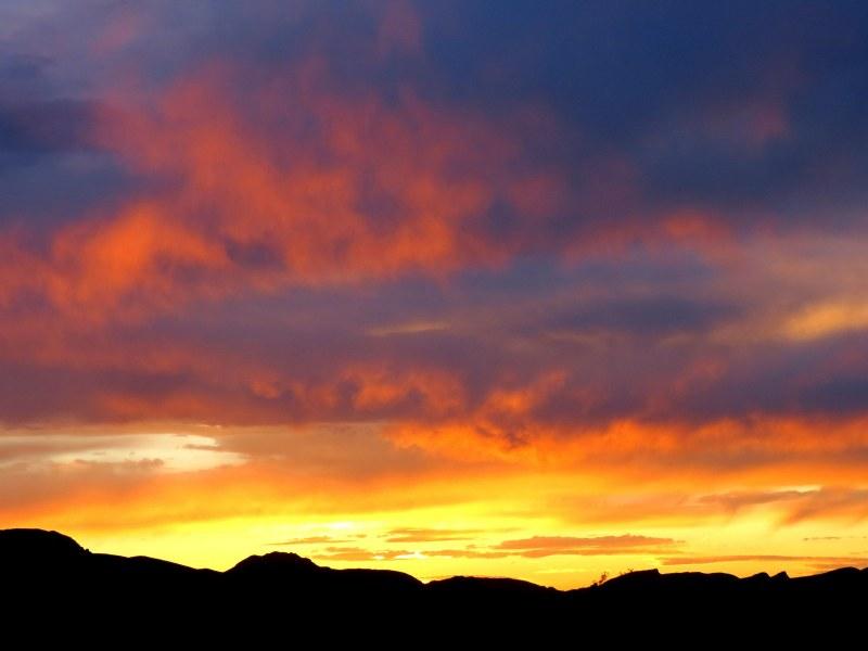 coucher de soleil en Arizona