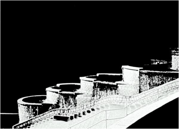 l'escalier d'eau