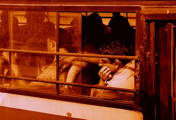 long trajet dans le bus