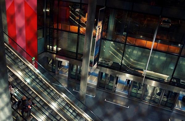 les escaliers mécaniques